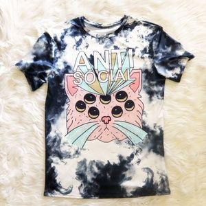 NWOT Anti Social Spider Cat Scuba Shirt